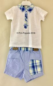 Baby Boys Polo Shirt Top Shorts 2 Piece Set 12 18 Lime
